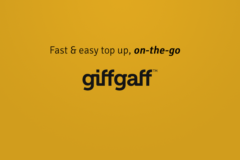 Top up giffgaff mobile online with Kwikpay app